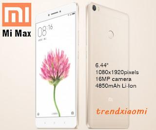 tipe ponsel besutan Xiaomi dari jajaran Mi Max series Hape Xiaomi Mi Max series