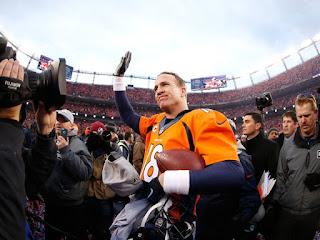 Denver Broncos celebrate AFC Championship win