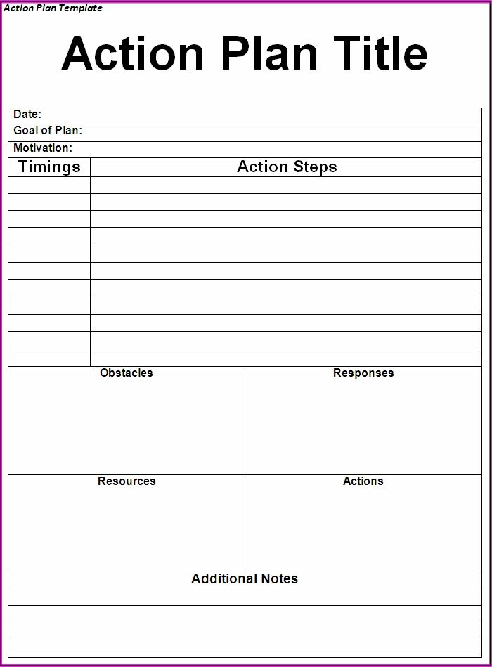 Action Plan Template Microsoft | Resume Business Template