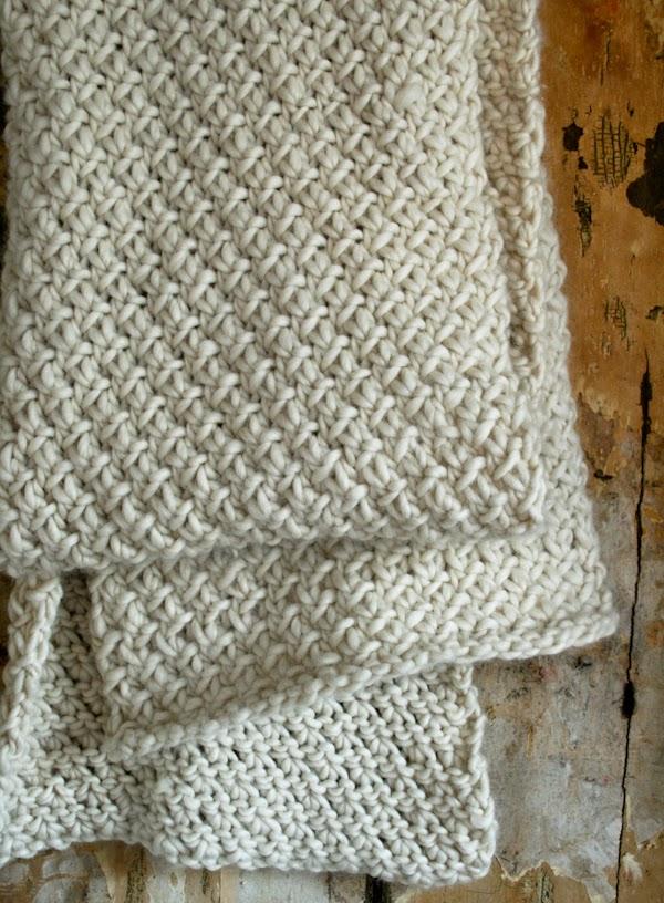 Knitting Pattern For Whisper Scarf : DIY: Snowflake Knit Scarf - Nature Whisper