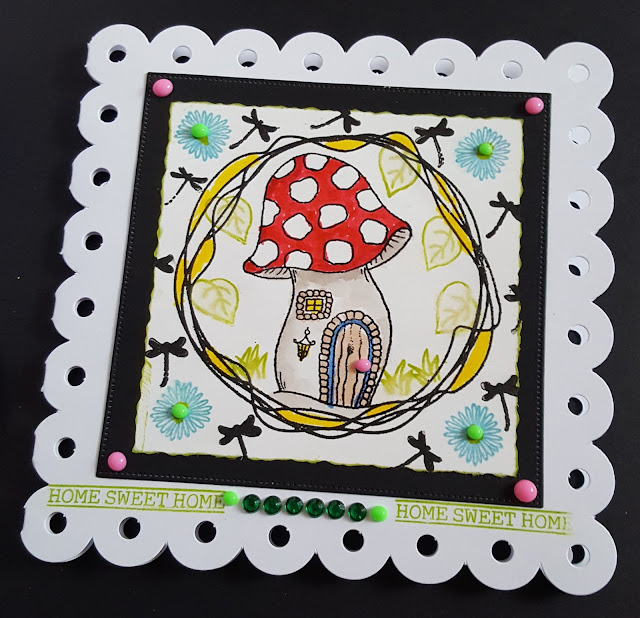 Home Sweet Home - Magic Fairy toadstool shaped card