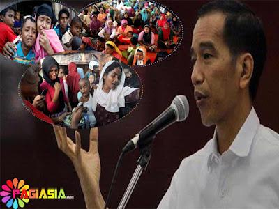 Jokowi Memberi Perintah Kepada Menterinya Untuk Mengirimkan Bantuan Terhadap Penduduk Rohingya di Myanmar
