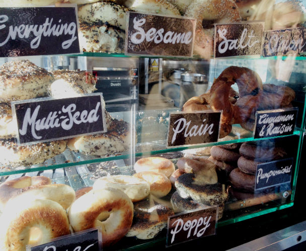 New York Bagels at Bowery Bagels & Beans