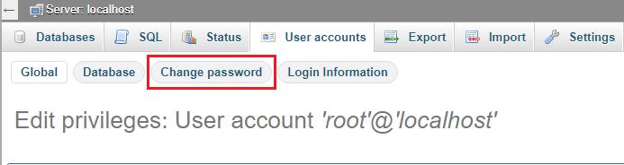 Hướng dẫn đặt và đổi mật khẩu cho phpMyAdmin trên XAMPP 5