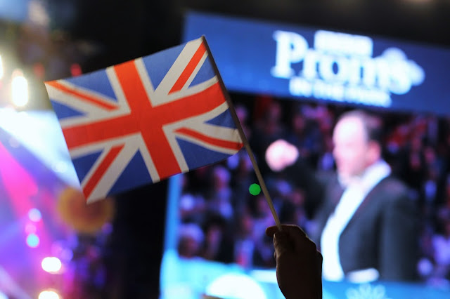 Flag at Proms in the Park, London - UK lifestyle blog
