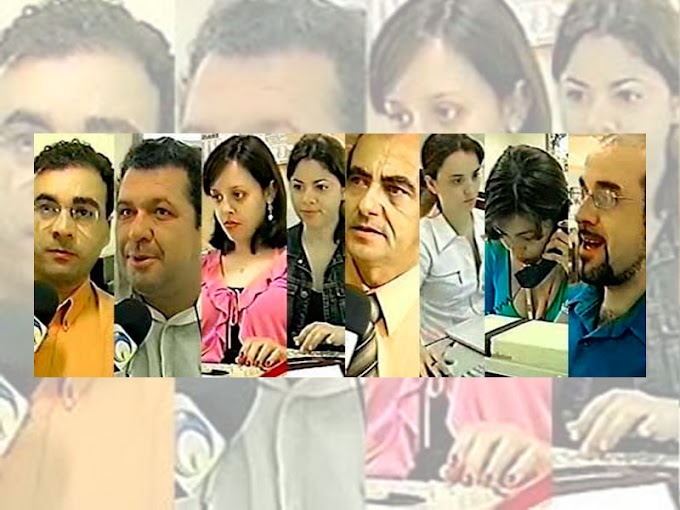 Oito jornalistas em entrevista na TV Câmara