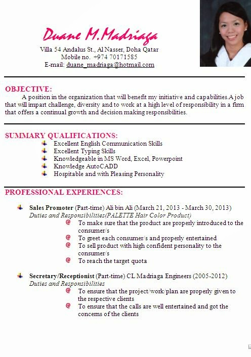 latest resume examples