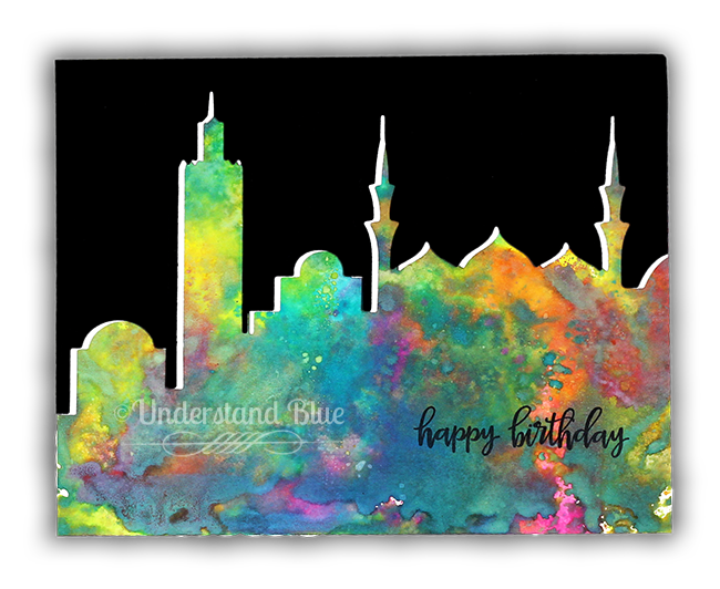 Distress Oxides - Skylines card by Understand Blue