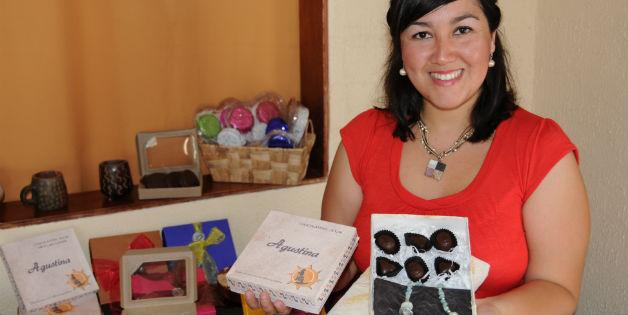 Chocolatera muestra de caja de bombones