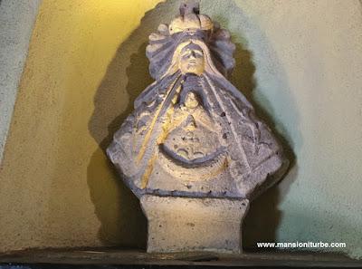 Virgen de la Salud de Pátzcuaro en Cantera en Hotel Mansión Iturbe en Pátzcuaro