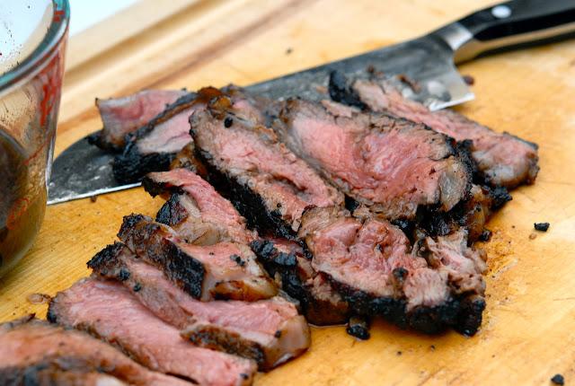 Balsamic Honey Steak, Savvy Spoon