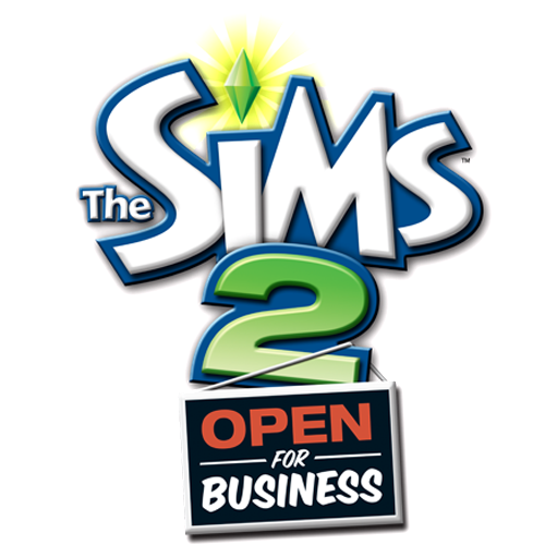 The Sims Open for Business logo
