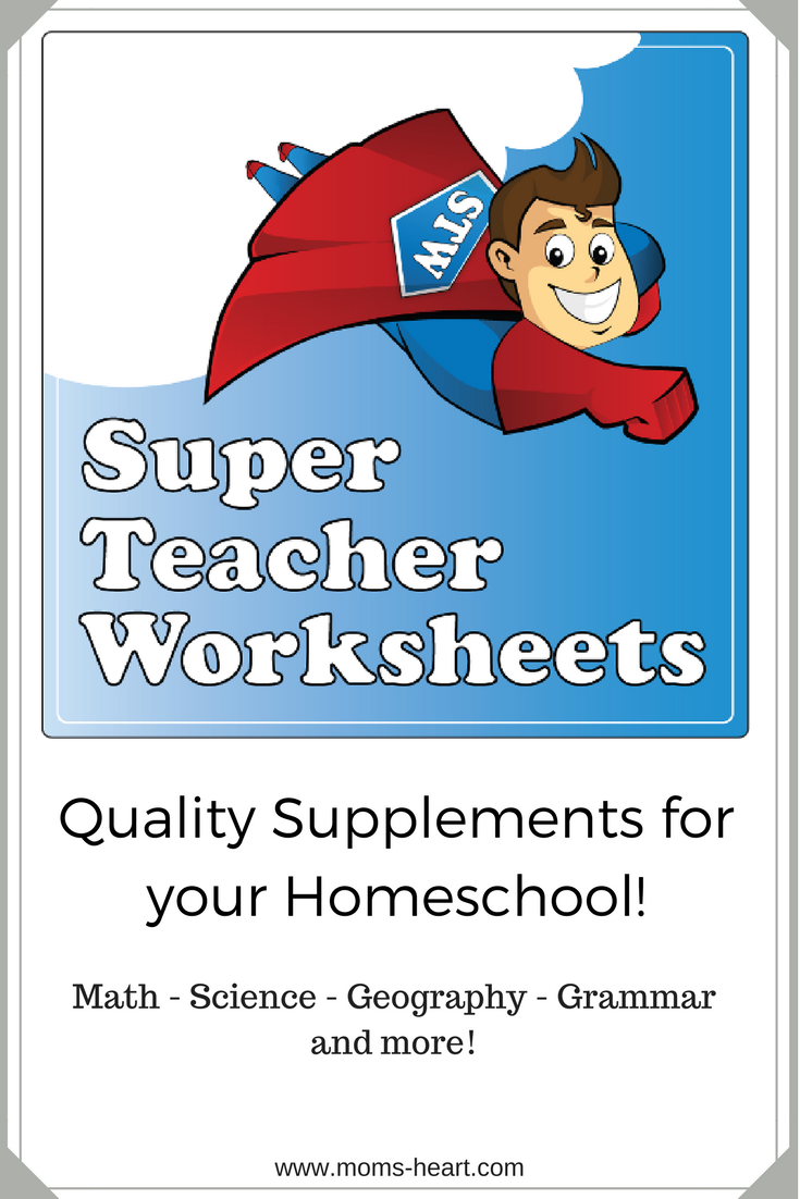 Mom\'s Heart: Super Teacher Worksheets {review}