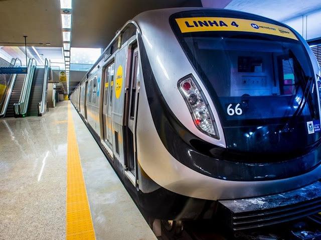 Sistema de Piloto Automático da Linha 4 do Metrô em testes