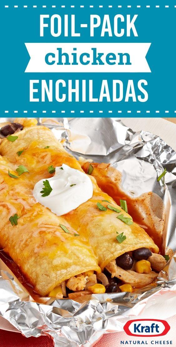 Foil-Pack Chicken Enchiladas