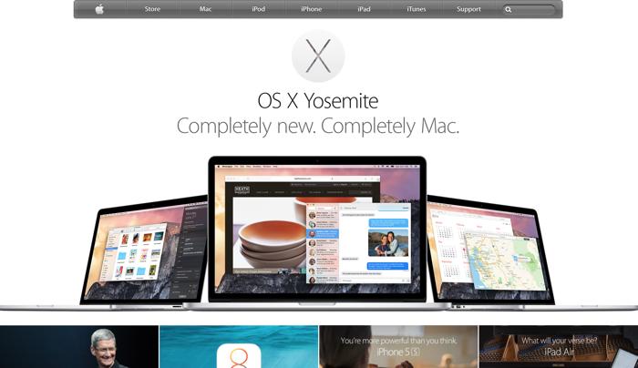 homepage sito apple nel 2014