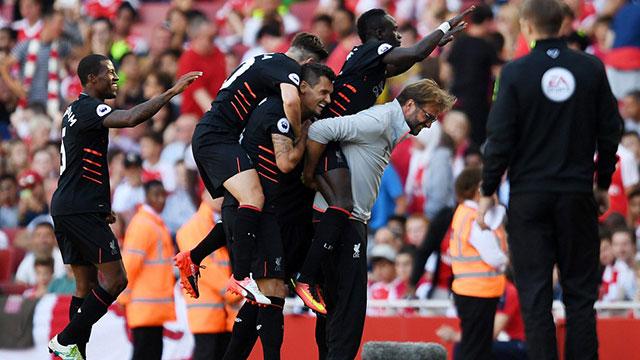 Liverpool Awali Liga Premier Inggris Musim 2016/2017 dengan Sempurna