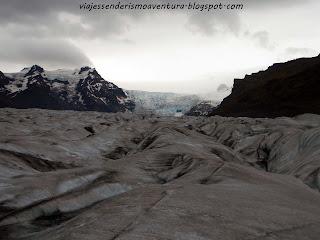 Lengua glaciar Svínafellsjökull en el Parque Nacional Vatnajökull