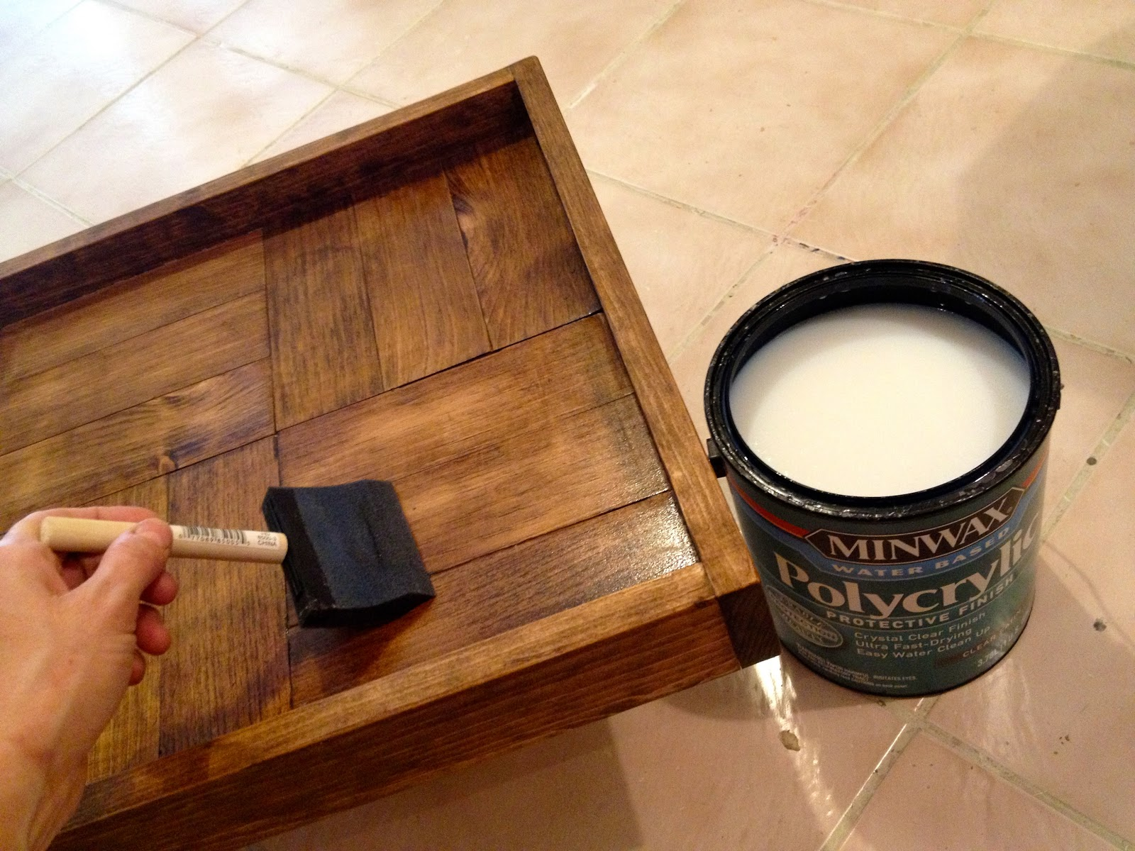 That S My Letter Diy Ottoman Tray