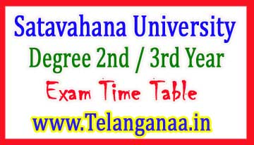 SU Degree 2nd / 3rd Year Annual Exam Time Table 2017
