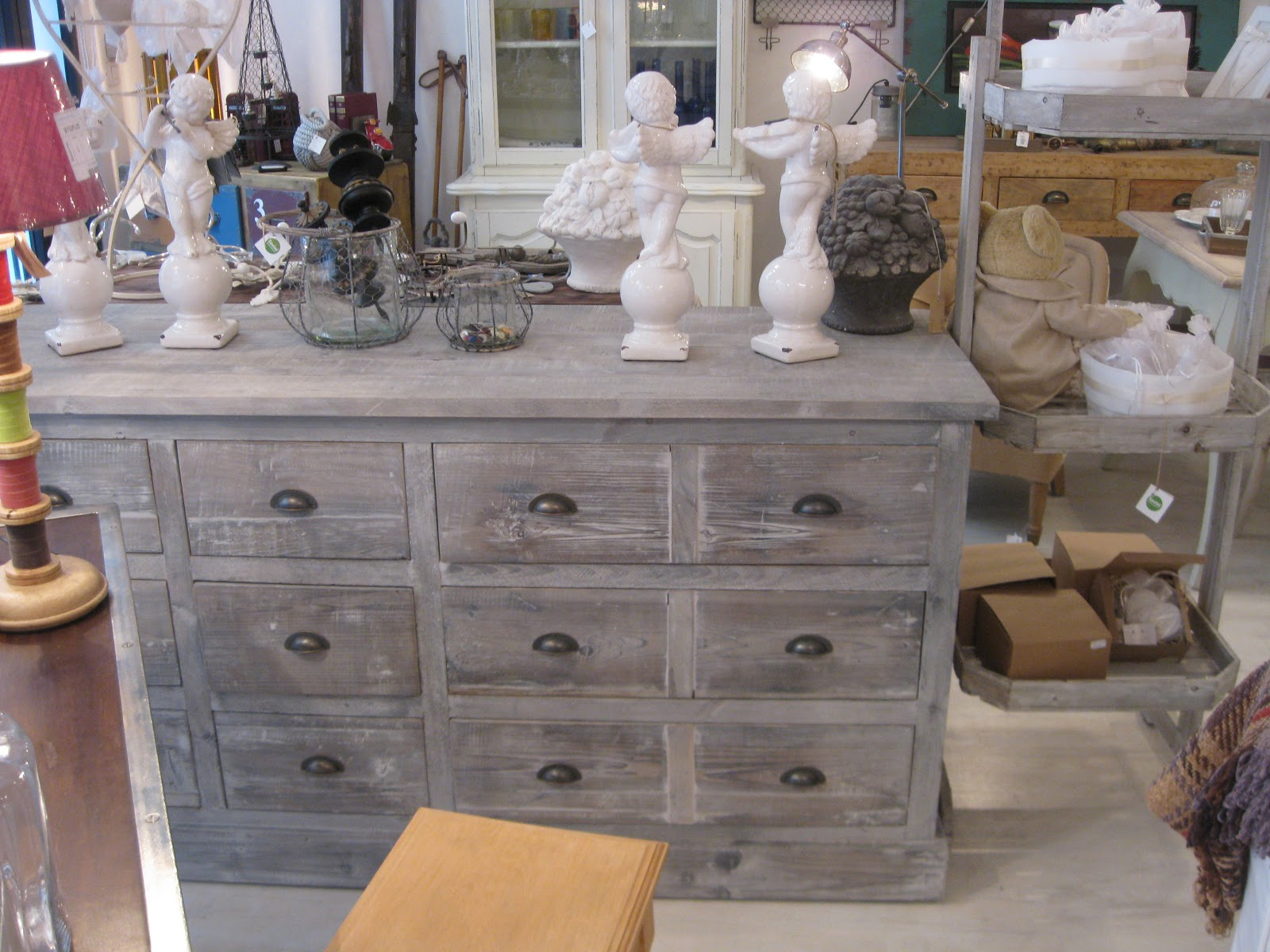 Gray Distressed Wood Dresser   I Like It For The Kitchen