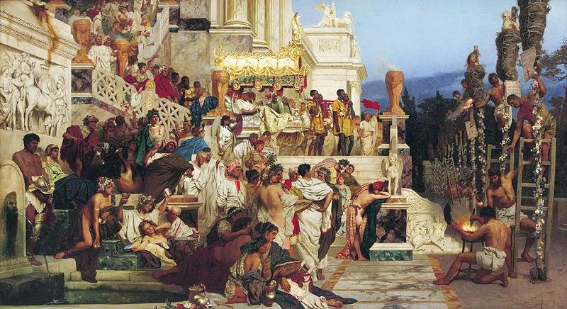Tochas Nero (Christian Castiçais) - Henryk Siemiradzki e suas pinturas ~ Polonês