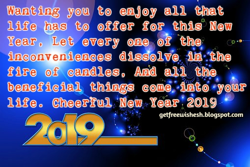 2019 Happy New Year Wishes.