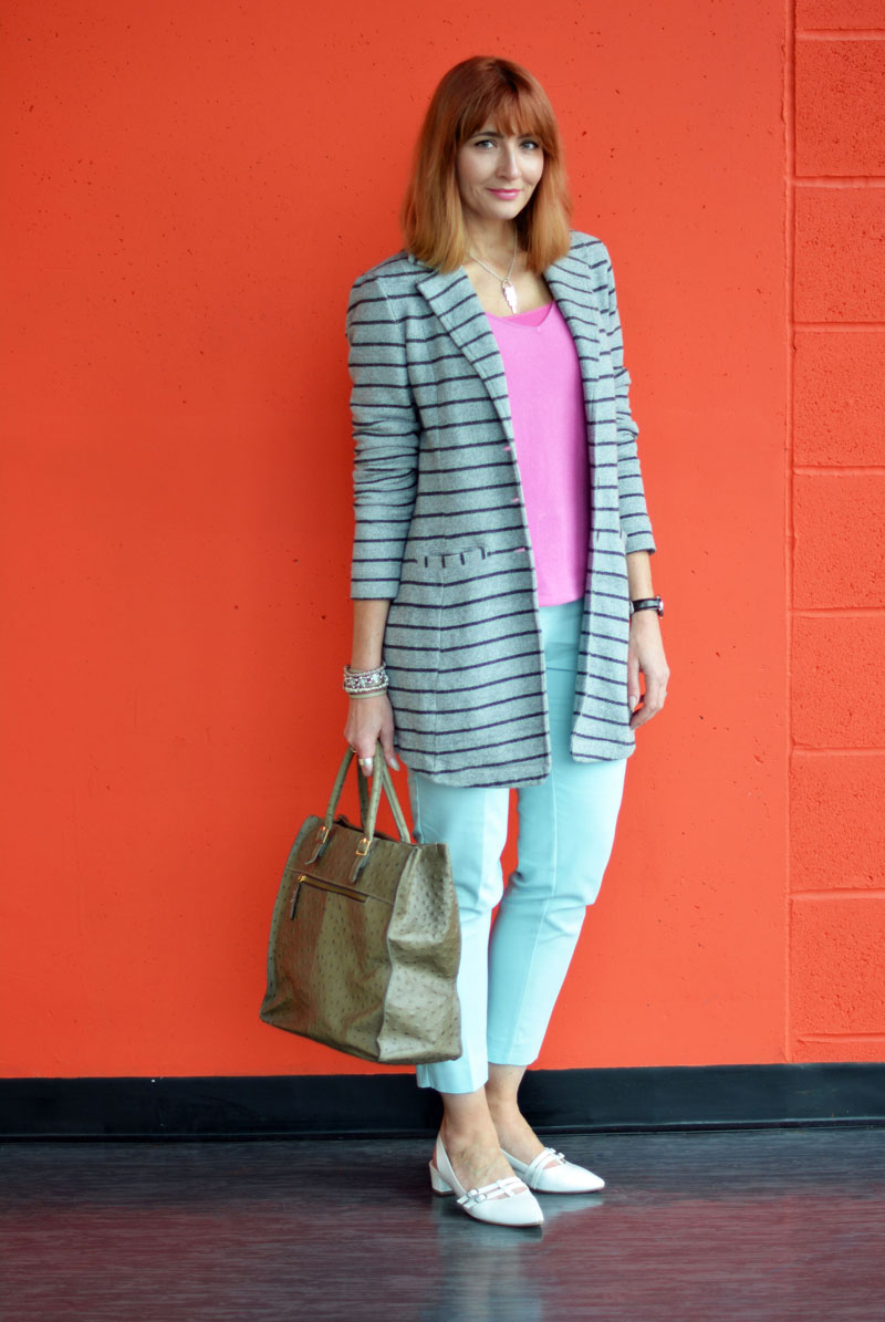 Spring Style: Pink, mint and grey stripes | Not Dressed As Lamb