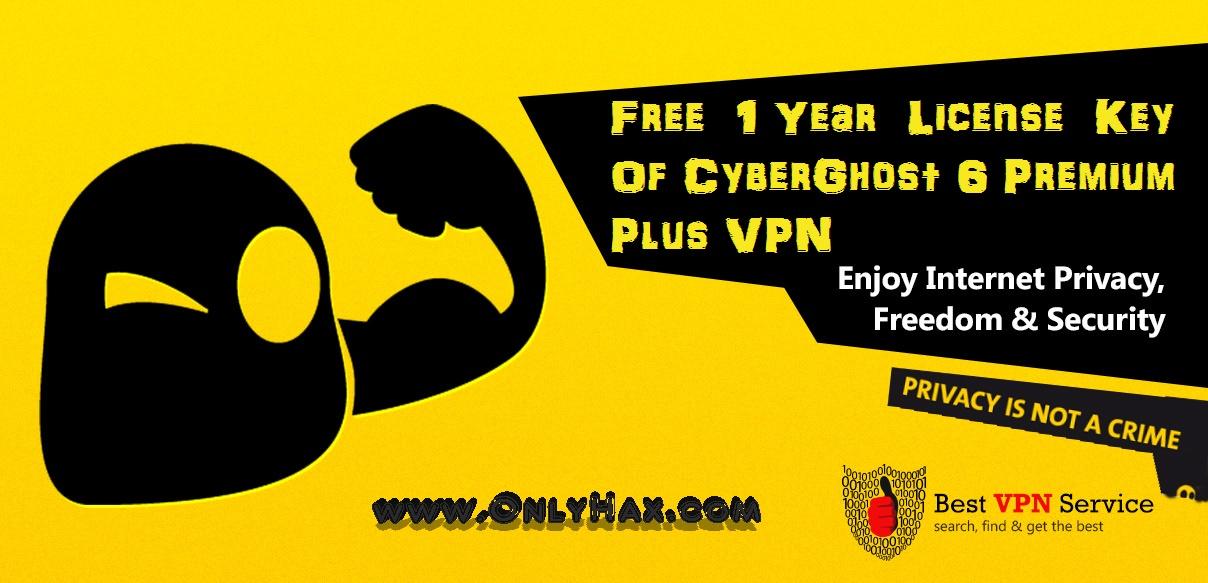 free cyberghost vpn license key