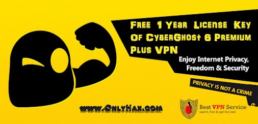 CyberGhost 6 Premium Plus VPN License Key Giveaway