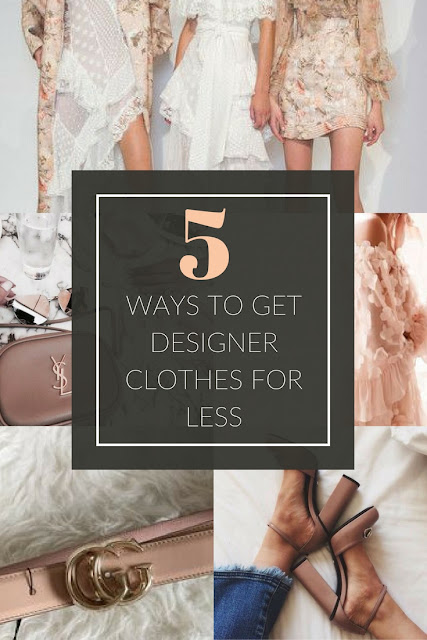 how to get designer clothes for less