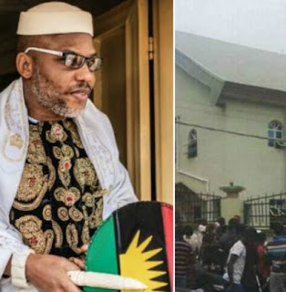 nnamdi kanu behind catholic church massacre