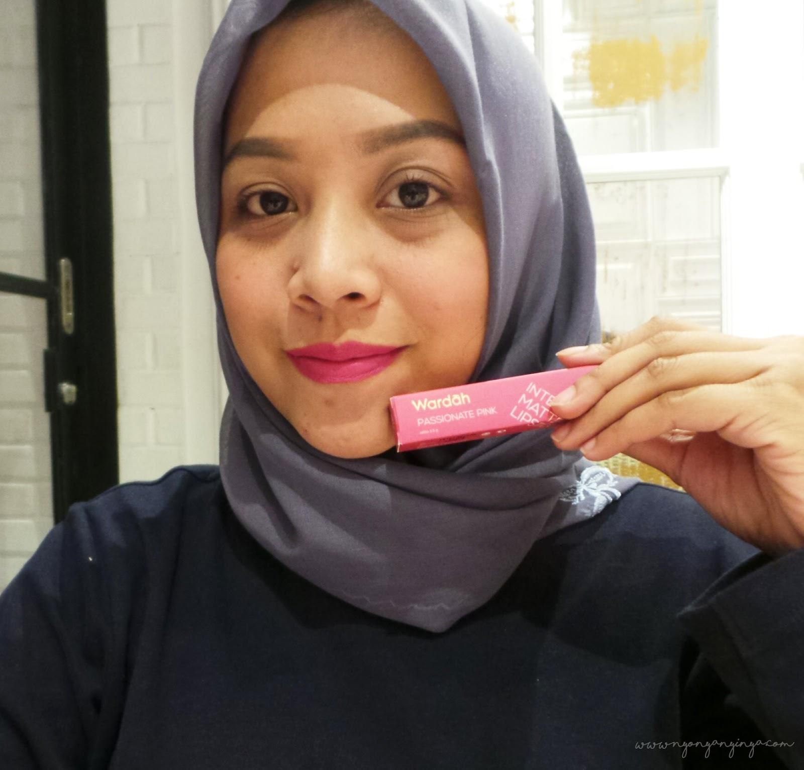 Nyonya Nyinyas Room Review And Swatch Wardah Intense Matte Lipstick Lipstik No9 07 Passionate Pink