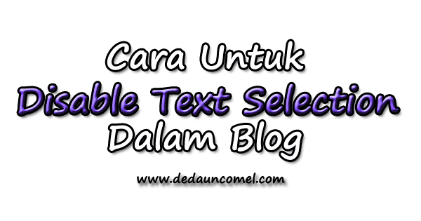 cara, turorial, disable text selection, highlight