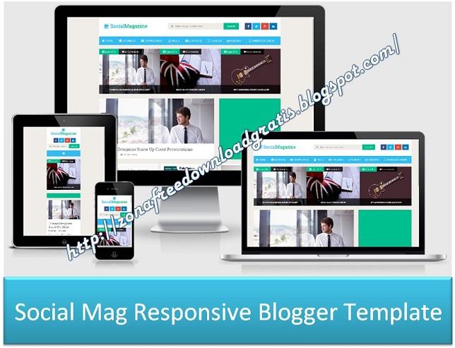 Social Mag Responsive Blogger Template