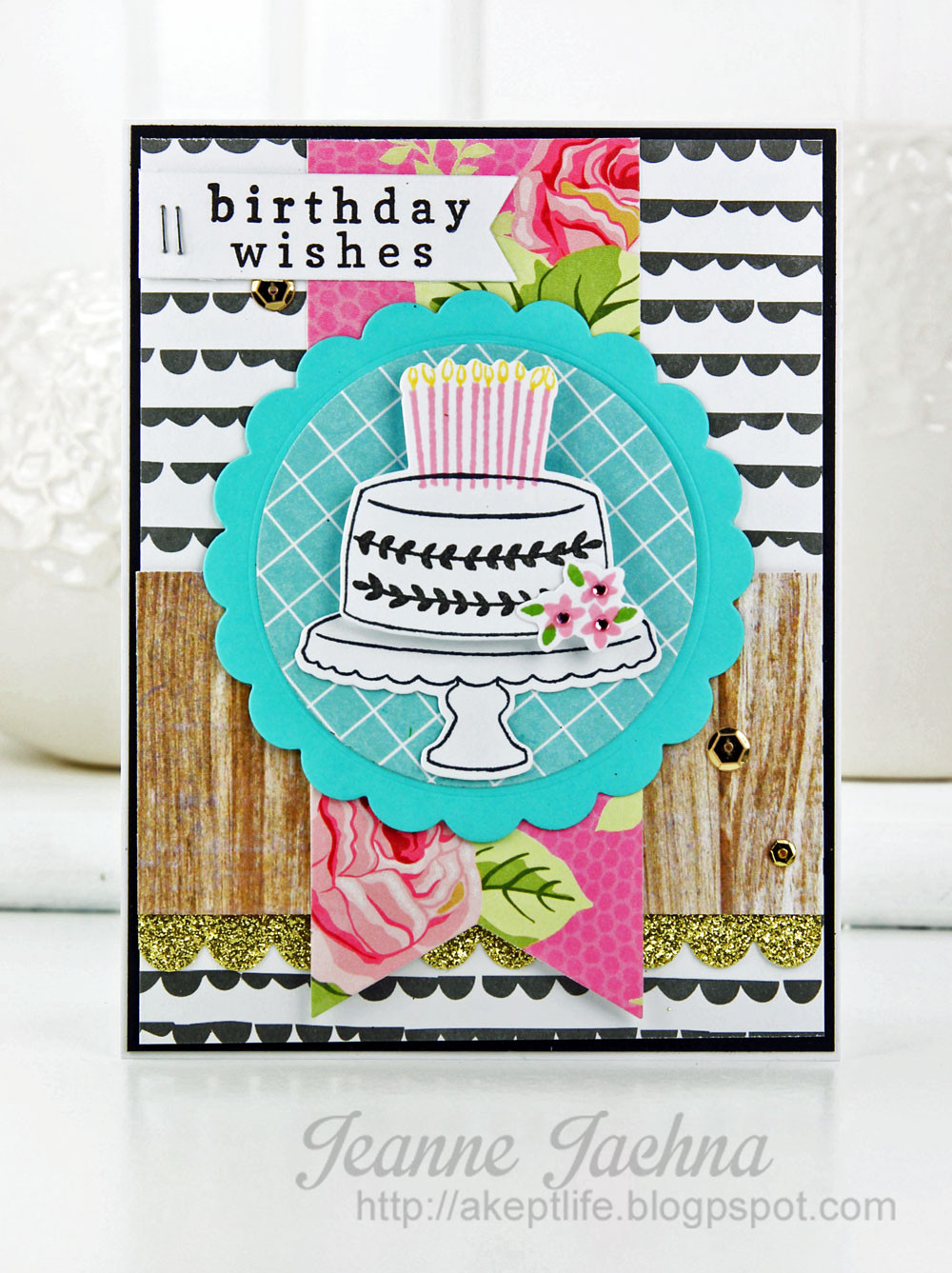 A Kept Life: Fusion Card Challenge - Mod Birthday Wishes