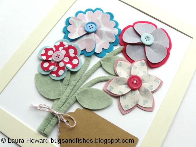 Como fazer flores 3D usando feltro e tecido