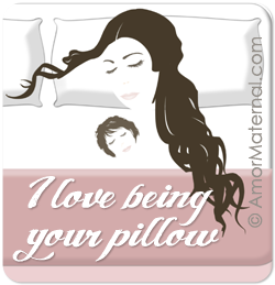 Co-Sleeping advocacy: I love being your pillow. © Amor Maternal