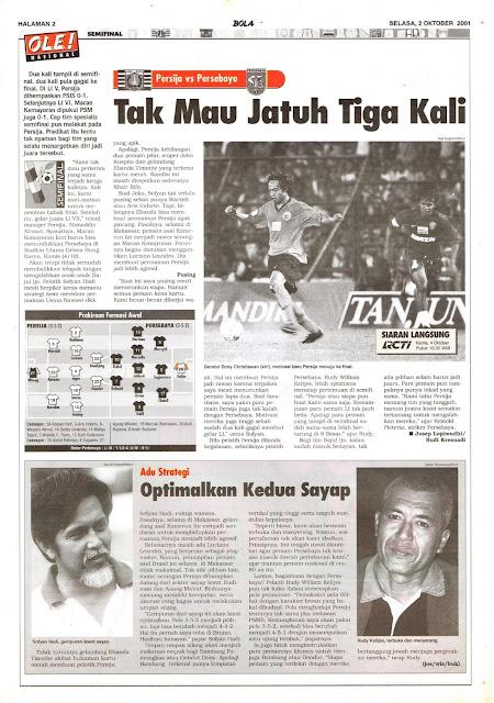 SEMIFINAL LIGA INDONESIA PERSIJA VS PERSEBAYA
