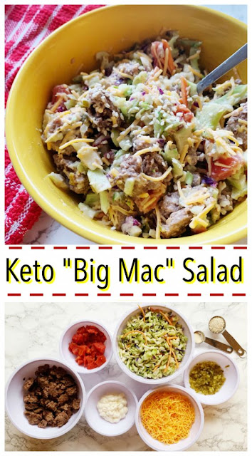 BIG MAC SALAD | KETO AND LOW CARB