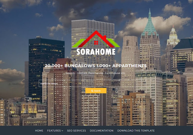 Sora Home Blogger Template is a Blogger premium existent estate topic amongst awesome targetted  Free Download Sora Home Blogger Template