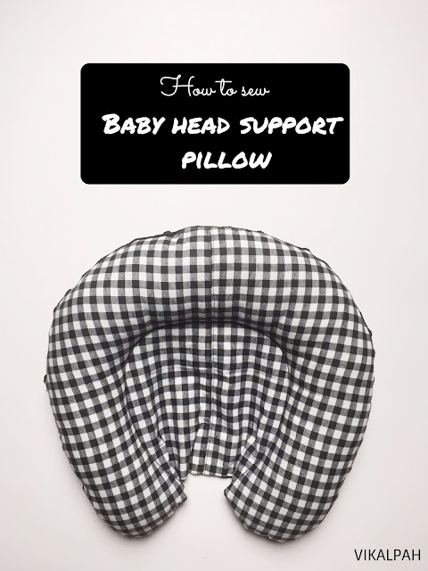 DIY head support pillow for baby