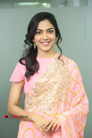 Actress Ritu Varma Pos in Beautiful Pink Anarkali Dress at at Keshava Movie Interview .COM 0031.JPG