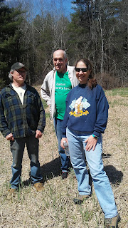 L-R Paul Sager, Alan Earls, Juanita Urban