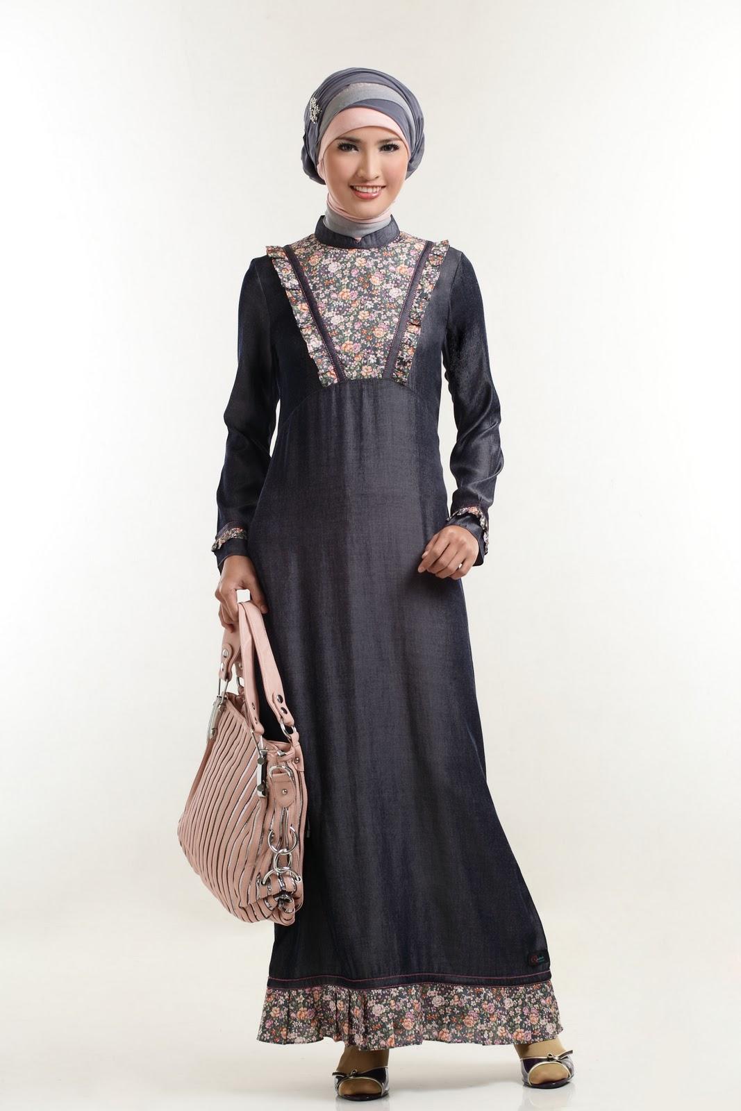 Gamis Batik Kombinasi Trend 10 - Dernier b