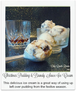 Made with Christmas Pudding, this delicious ice cream is a great way of using up any left overs you may have this festive season.