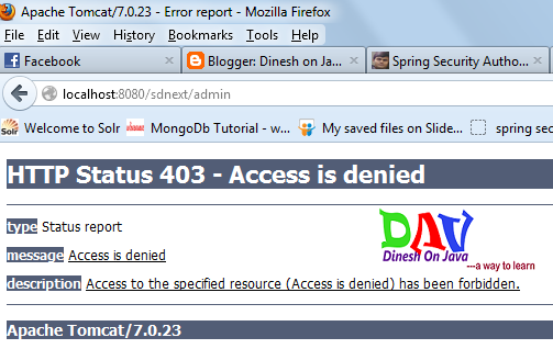 Customize http 403 access denied page in Spring Security