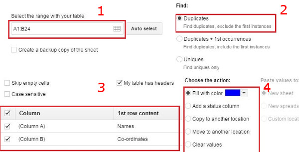 How to Remove Duplicate Entries in Google Spreadsheet