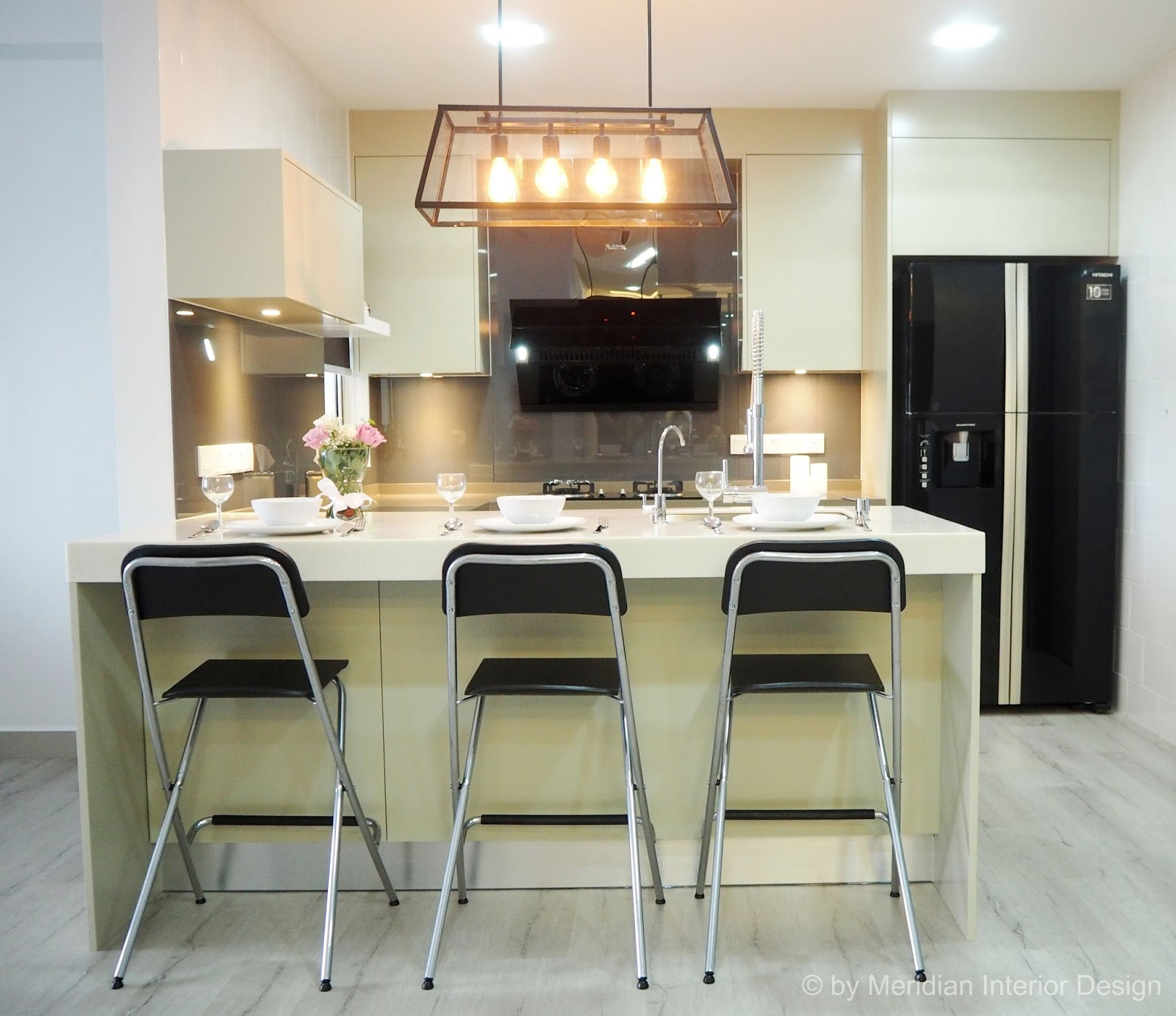 Meridian interior design and kitchen design in kuala for Modern kitchen design for condo