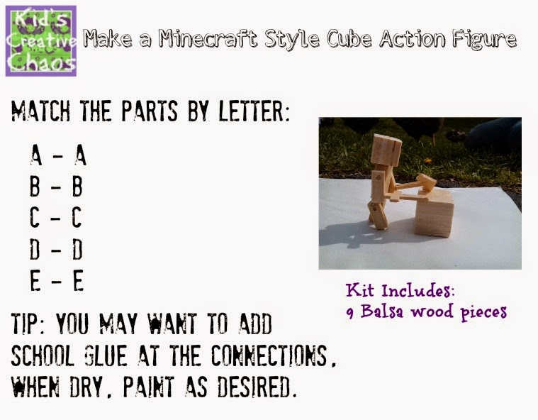 How to make your own Minecraft style puzzle.